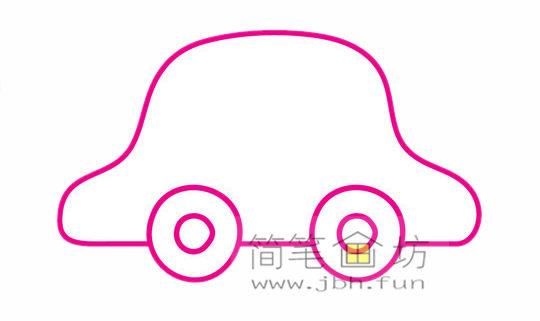 小汽车的画法及简笔画大全(4)