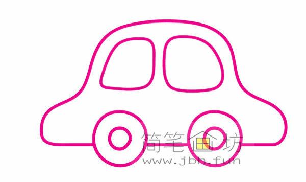 小汽车的画法及简笔画大全(6)