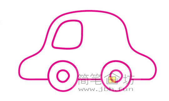 小汽车的画法及简笔画大全(5)