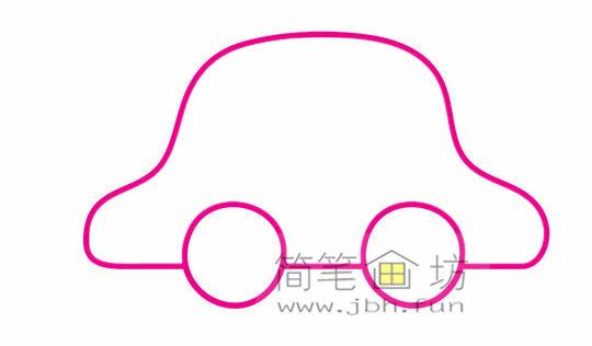 小汽车的画法及简笔画大全(3)