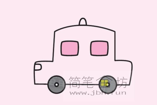 小汽车的画法及简笔画大全(8)