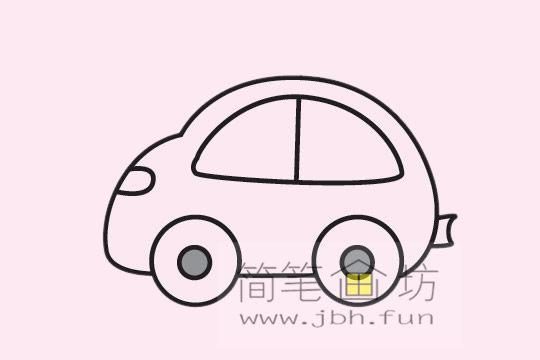 小汽车的画法及简笔画大全(9)