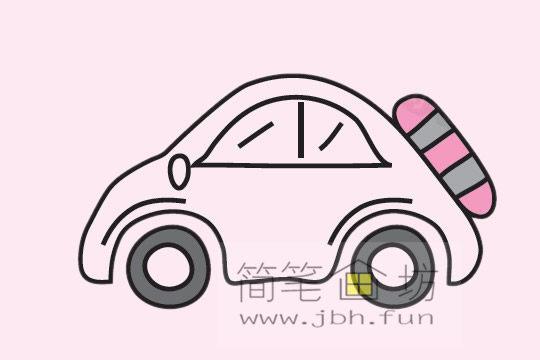 小汽车的画法及简笔画大全(11)