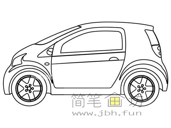 小汽车的画法及简笔画大全(12)