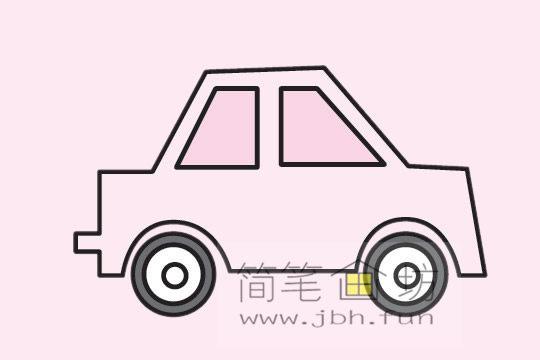 小汽车的画法及简笔画大全(10)