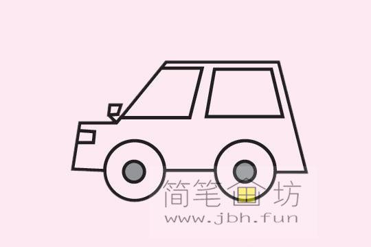 小汽车的画法及简笔画大全(7)