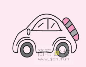 小汽车的画法及简笔画大全
