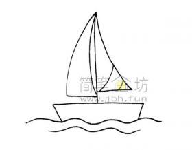 帆船简笔画画法步骤教程大全