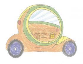 外表酷炫的概念车简笔画画法【彩色】