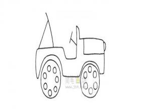 吉普车简笔画绘画步骤图解教程
