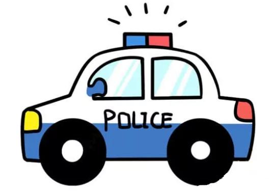 儿童简笔画:警车简笔画画法步骤【彩色】(5)