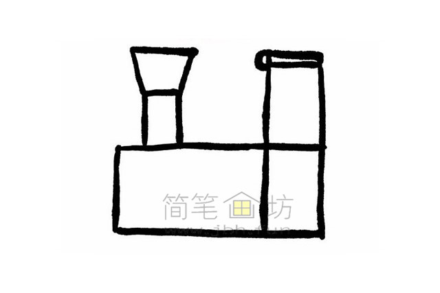 简单7步画出火车简笔画【彩色】(2)