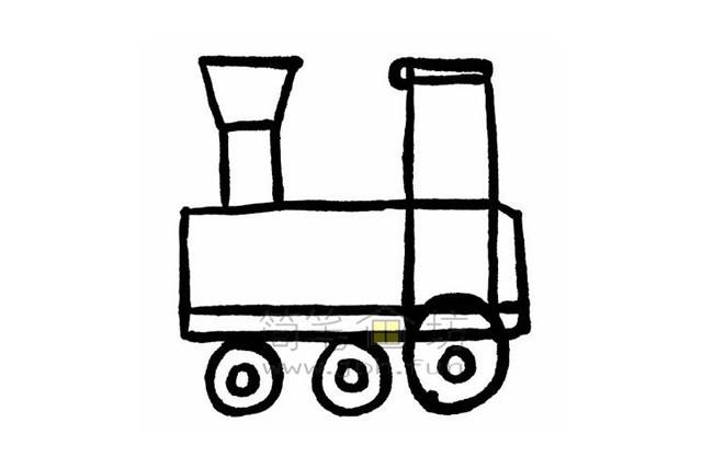 简单7步画出火车简笔画【彩色】(4)