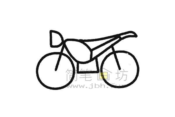 摩托车简笔画画法(3)
