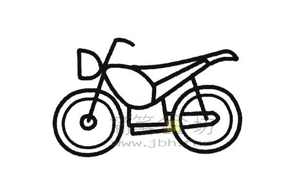 摩托车简笔画画法(4)