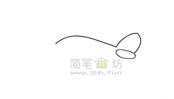飞机简笔画绘画步骤(1)