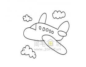 飞机简笔画绘画步骤
