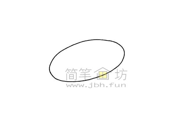 简单易画的飞碟简笔画绘画步骤【彩色】(1)