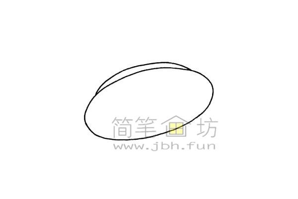 简单易画的飞碟简笔画绘画步骤【彩色】(2)