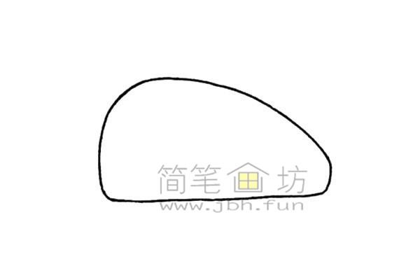 潜艇简笔画绘画步骤(1)