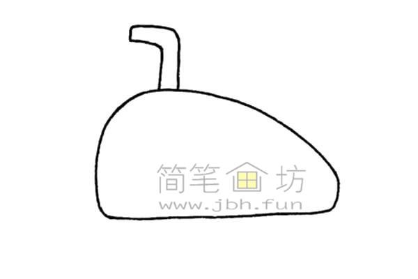 潜艇简笔画绘画步骤(2)