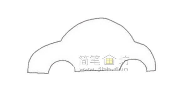 轿车简笔画绘画步骤【彩色】(1)
