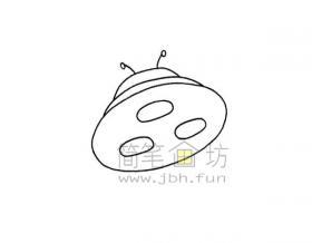 简单易画的飞碟简笔画绘画步骤【彩色】