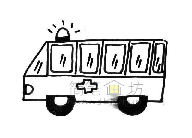 救护车简笔画图片教程(1)
