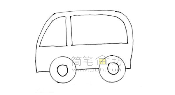 救护车简笔画图片绘画步骤(3)