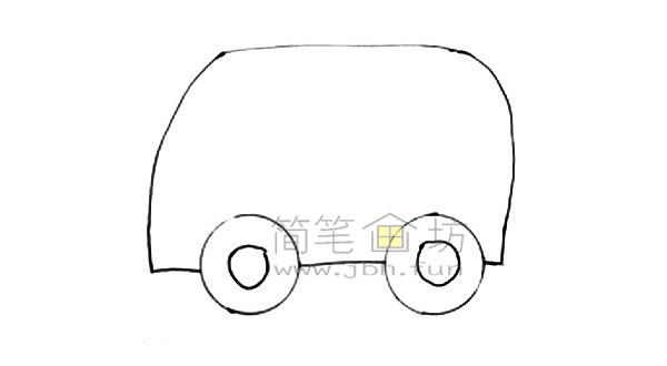 救护车简笔画图片绘画步骤(2)