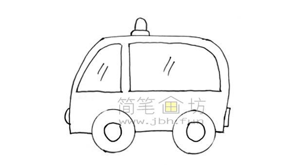 救护车简笔画图片绘画步骤(6)