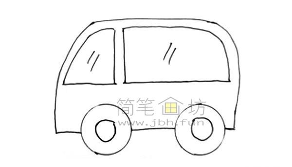 救护车简笔画图片绘画步骤(4)