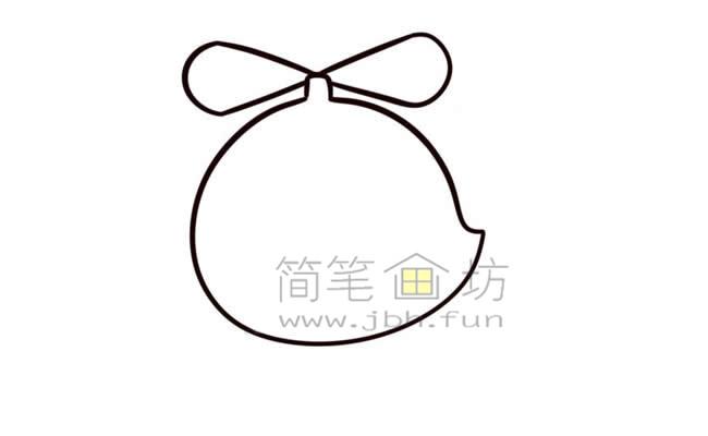 Q版直升机简笔画画法教程【彩色】(5)