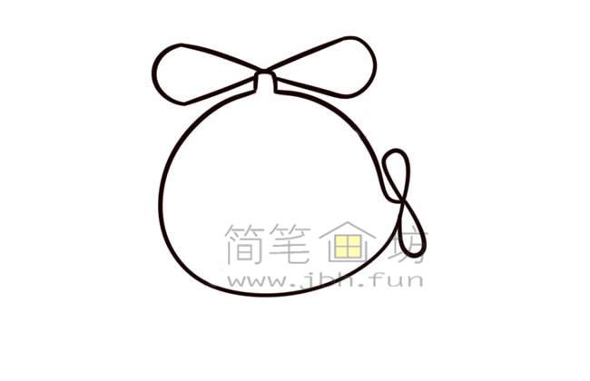 Q版直升机简笔画画法教程【彩色】(6)
