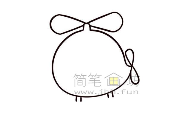Q版直升机简笔画画法教程【彩色】(7)