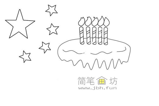 国庆节主题儿童简笔画_祖国生日快乐简笔画画法教程(5)