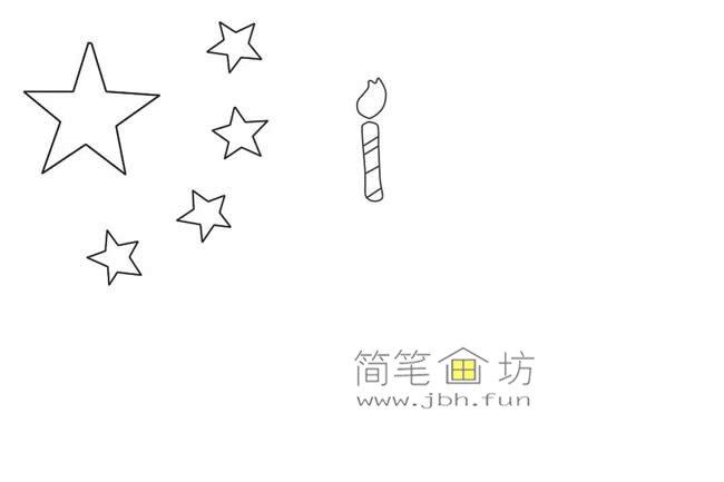 国庆节主题儿童简笔画_祖国生日快乐简笔画画法教程(3)