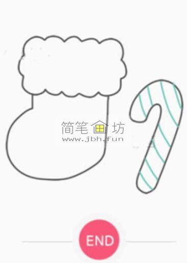 圣诞袜子的简笔画画法(7)