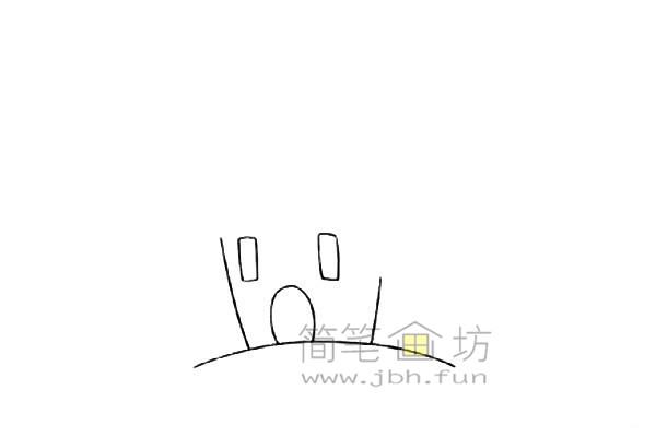 万圣节城堡简笔画的绘画教程【彩色】(1)
