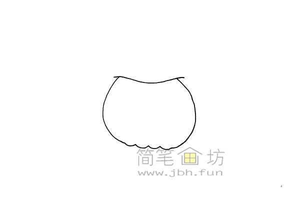 搞怪的万圣节南瓜灯简笔画画法教程【彩色】(2)