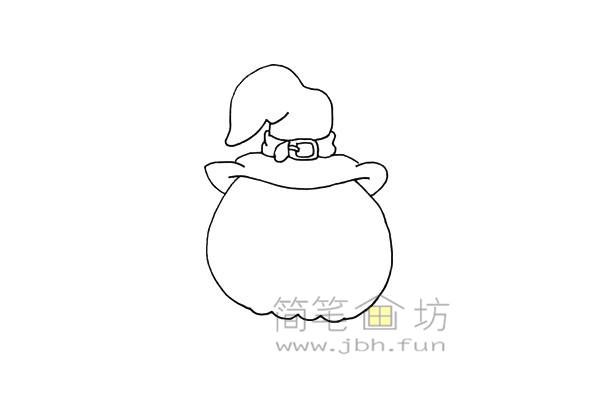 搞怪的万圣节南瓜灯简笔画画法教程【彩色】(5)