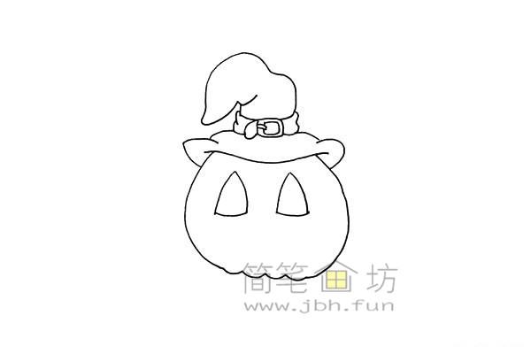 搞怪的万圣节南瓜灯简笔画画法教程【彩色】(6)