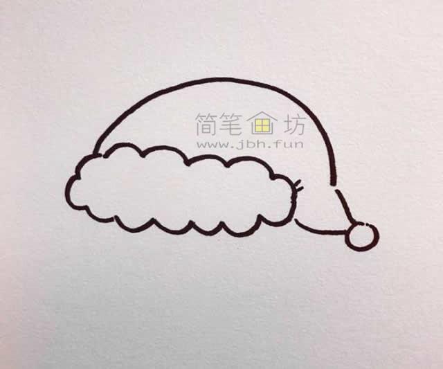 儿童简笔画:几招学会画和蔼的圣诞老爷爷简笔画【彩色】(1)