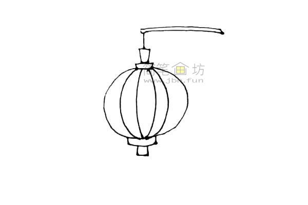 灯笼简笔画绘画步骤及图片大全【彩色】(5)