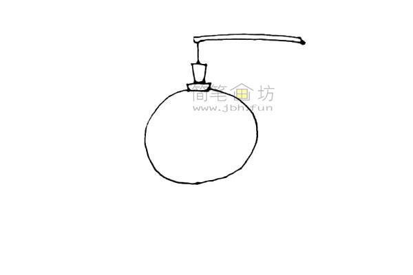 灯笼简笔画绘画步骤及图片大全【彩色】(3)