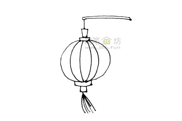 灯笼简笔画绘画步骤及图片大全【彩色】(6)