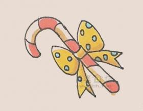 拐杖糖简笔画绘画步骤及图片大全【彩色】