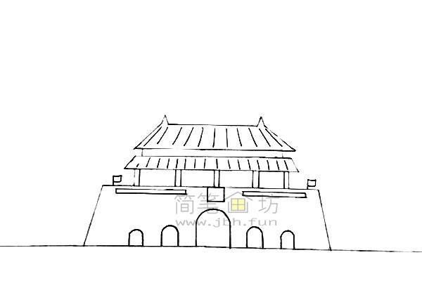 欢度国庆主体儿童简笔画【彩色】(1)