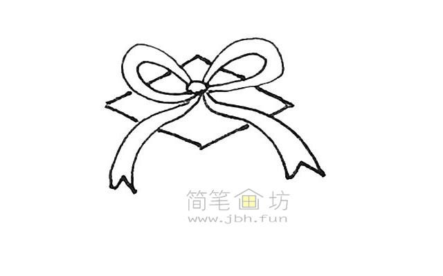好看的圣诞礼物盒简笔画画法【彩色】(3)