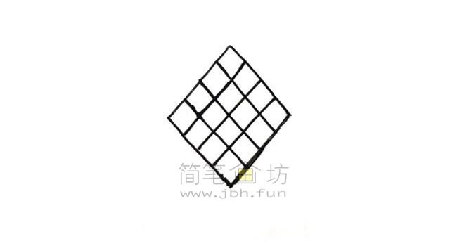 好看的中国结简笔画绘画步骤教程【彩色】(2)